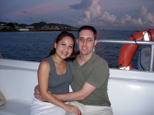 Annie and I take a dinner cruise around Simpson Bay, Sint Maarten