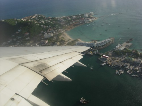 Aerial view of Sint Maarten